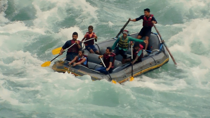 River Rafting in the ice cold waters of Teesta